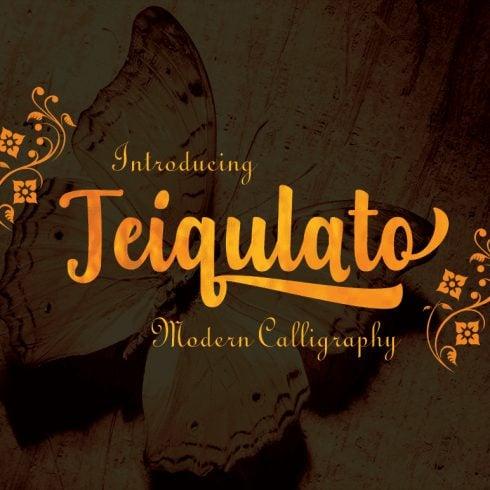 Download Teiqulato Script Font - $5 - T1 min 490x490