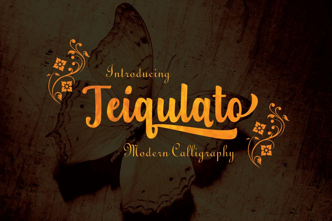 Download Teiqulato Script Font - $5 - T1 min
