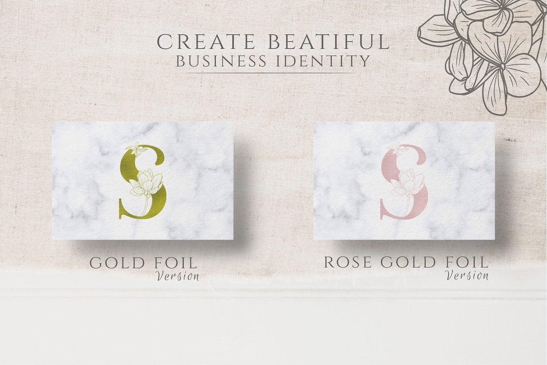 Adenium Font + Gold & Rose Gold Foil - $21 - adenium 04