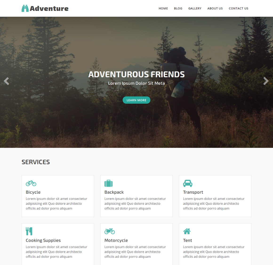 35 Premium HTML Landing Templates - $12 - adventure