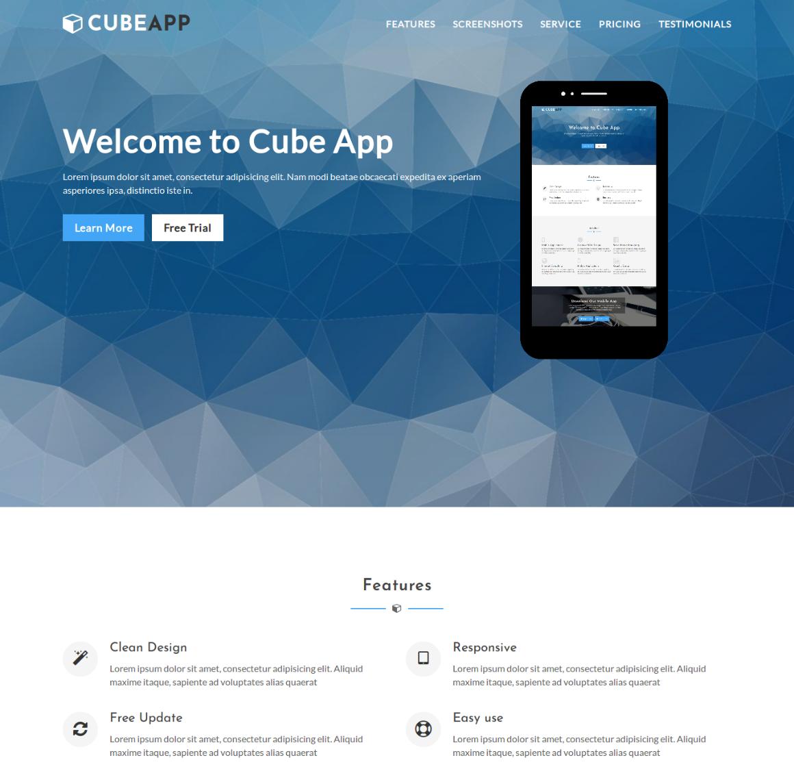 35 Premium HTML Landing Templates - $12 - app