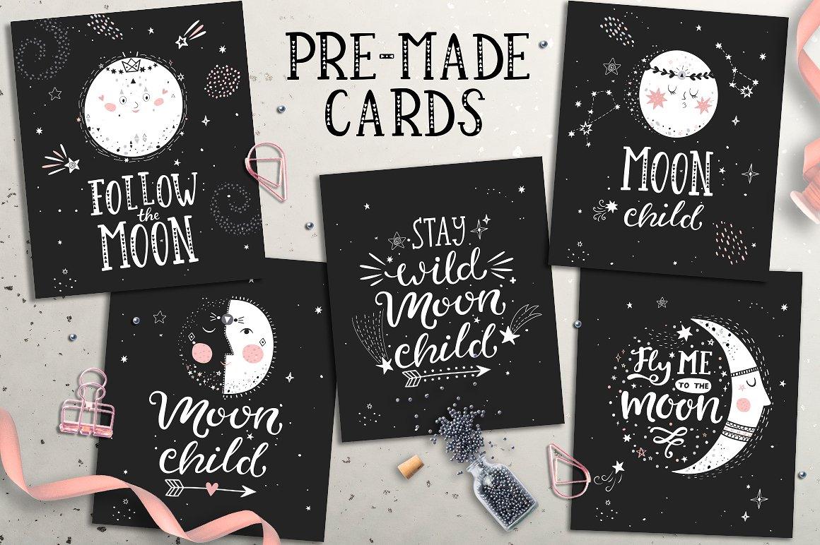 Moon Mood Graphic Collection - $15 - card