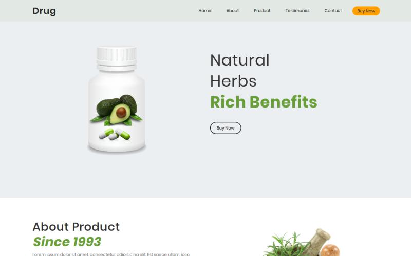 35 Premium HTML Landing Templates - $12 - drug