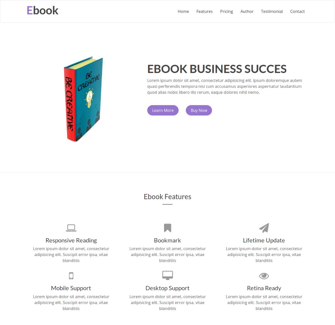 35 Premium HTML Landing Templates - $12 - ebook