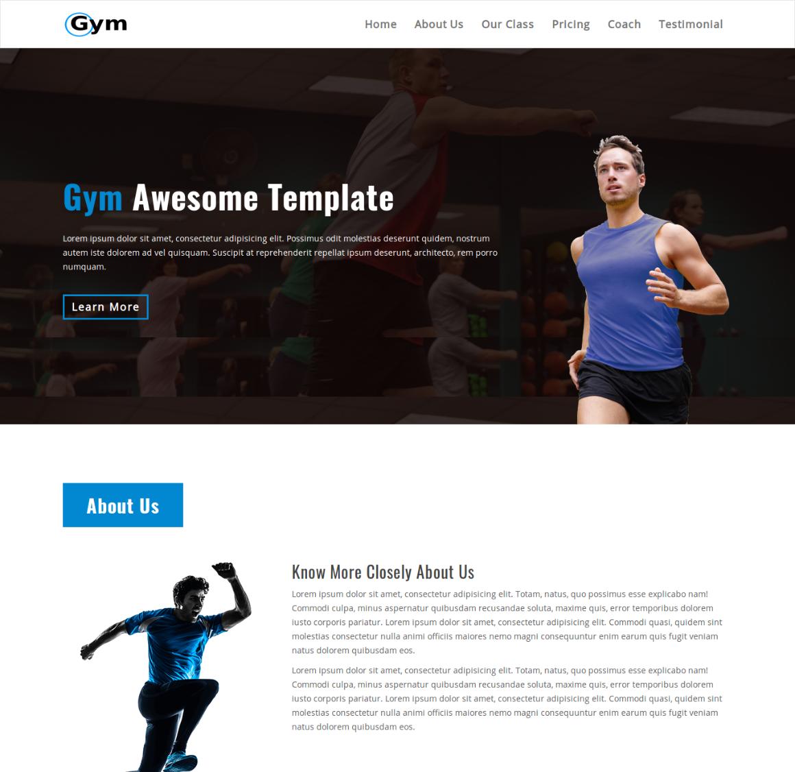 35 Premium HTML Landing Templates - $12 - gym