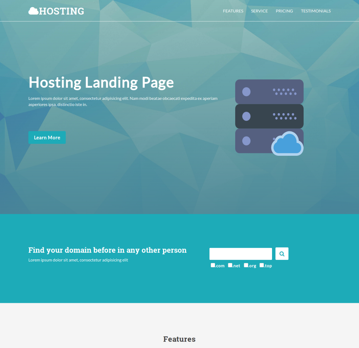 35 Premium HTML Landing Templates - $12 - hosting