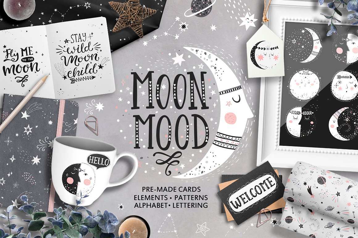 Moon Mood Graphic Collection - $15 - main 1