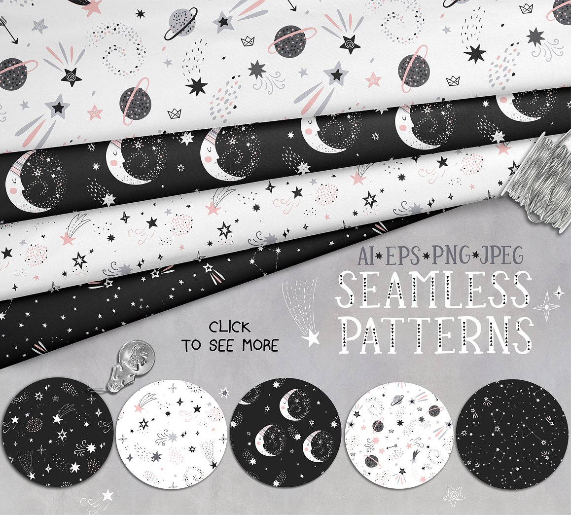 Moon Mood Graphic Collection - $15 - patterns