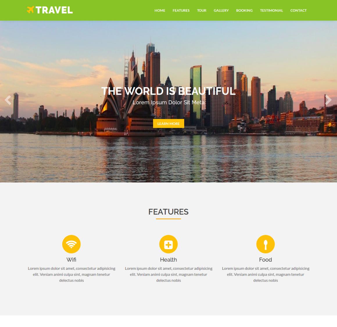 35 Premium HTML Landing Templates - $12 - travel
