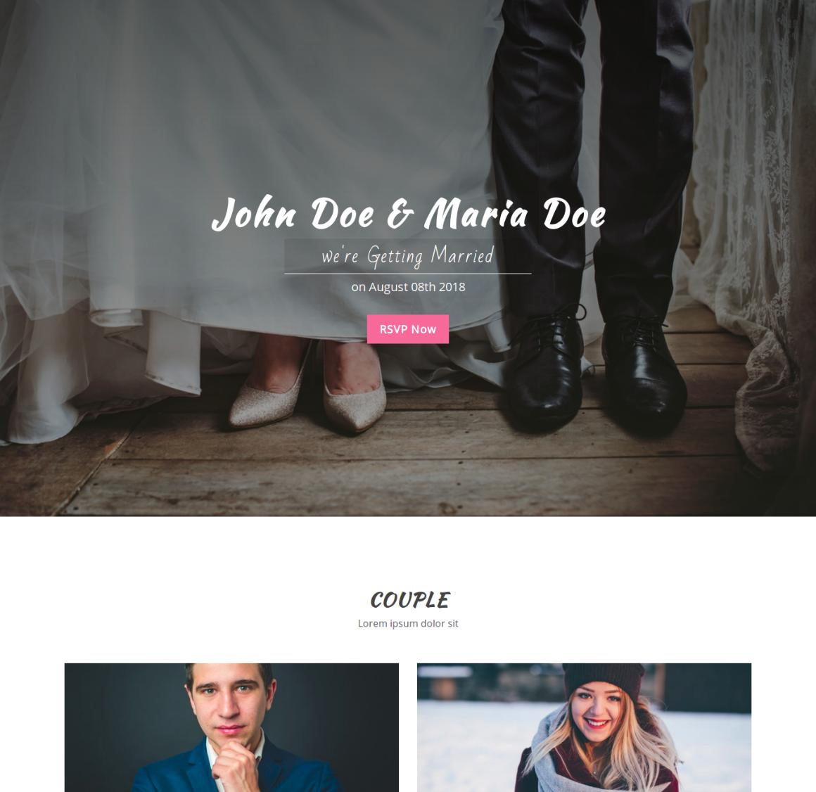 35 Premium HTML Landing Templates - $12 - wedding