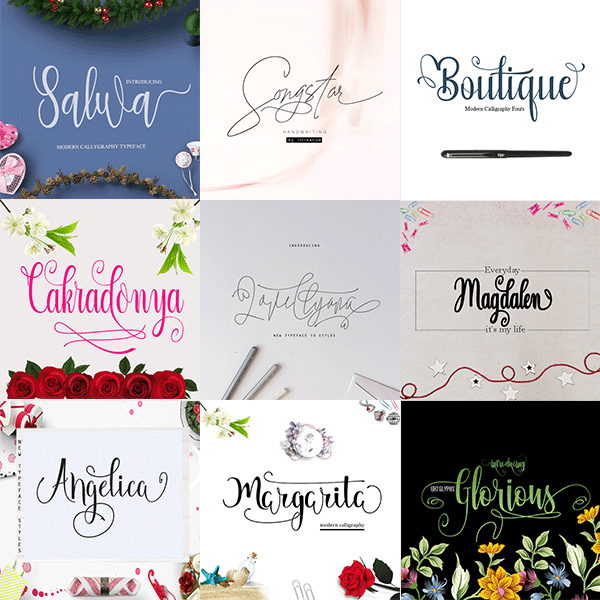 Girly Fonts