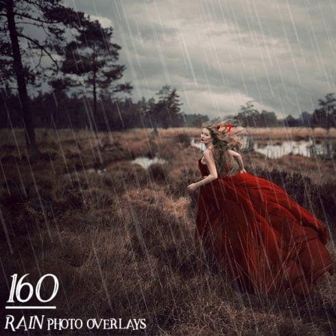 160 Rain Photo Overlays - $9 ONLY - 600 10 490x490