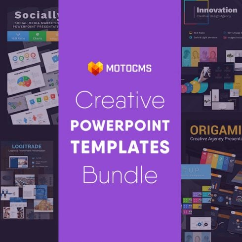 Creative PowerPoint Templates in 2020. Bundle to Design an Effective Presentation - Creative 1 490x490