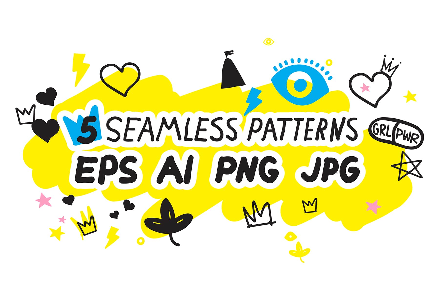 170 Doodles + Elements + Patterns - $25 Only - Preview 10 min