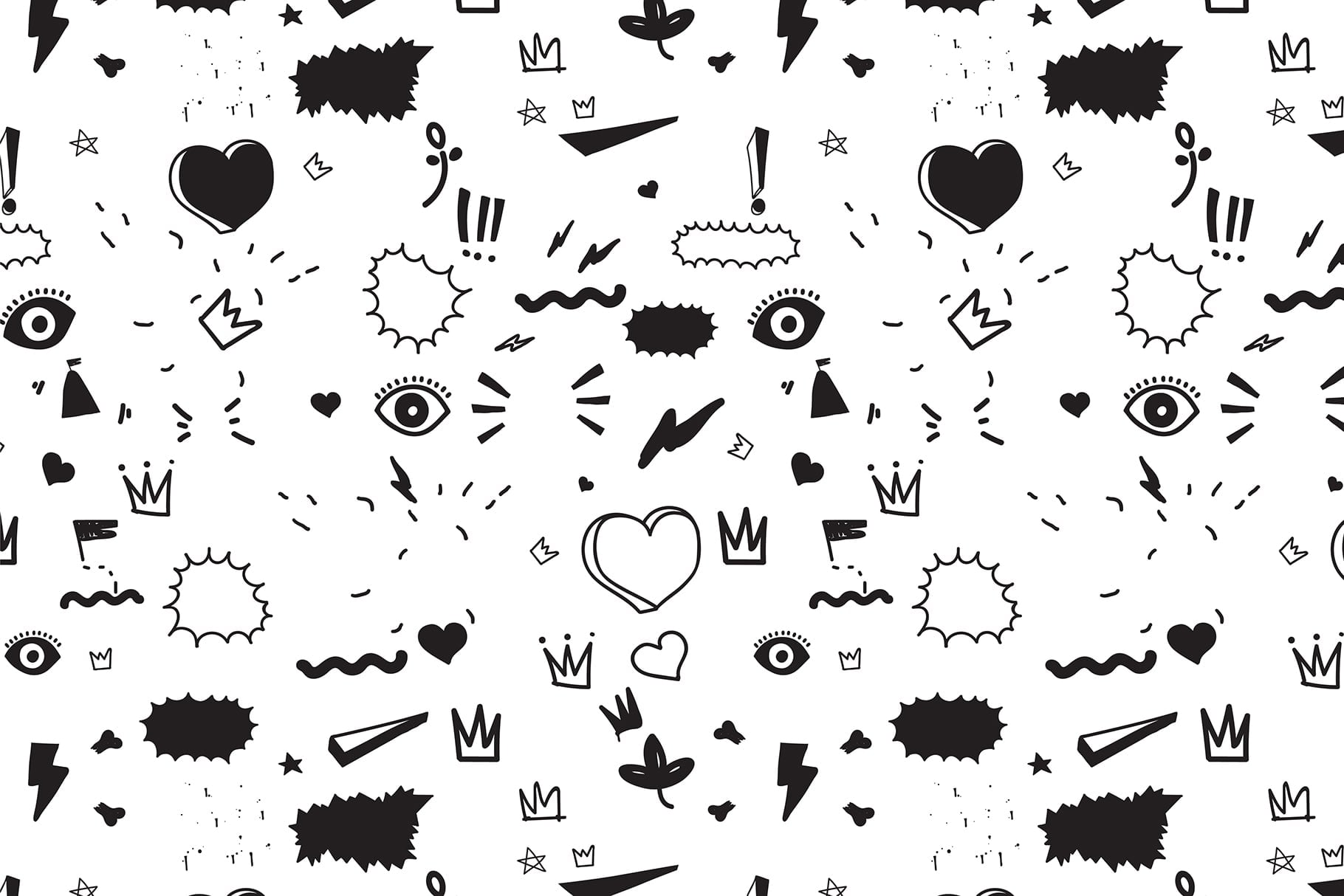 170 Doodles + Elements + Patterns - $25 Only - Preview 12 min