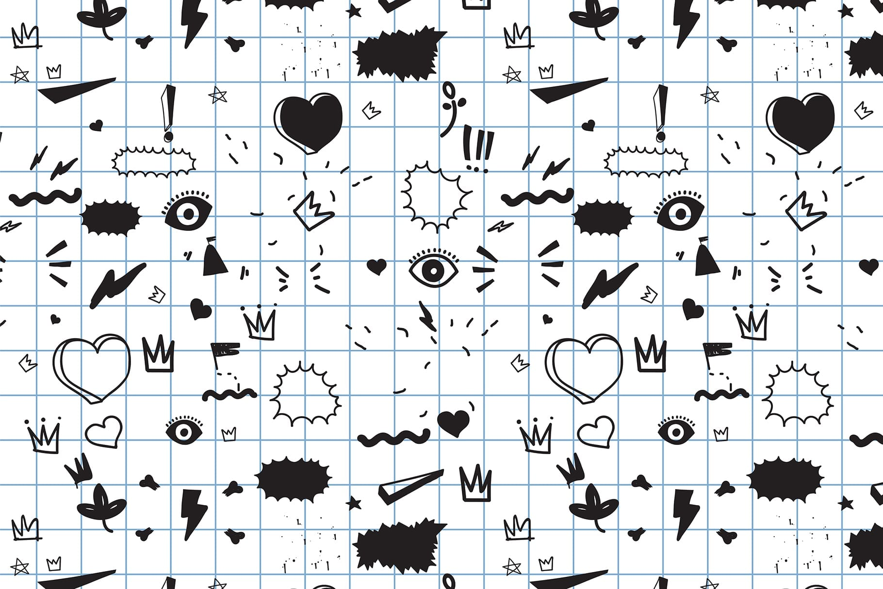 170 Doodles + Elements + Patterns - $25 Only - Preview 15 min
