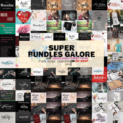 57 Epic Fonts - Super Font Bundle for $15 Only - Untitled 1.png1 1 490x490