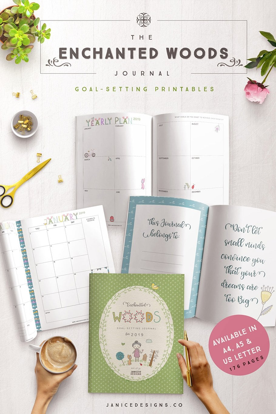 The Enchanted Woods Journal (3 sizes) - $35 - enchanted woods journal cover page2