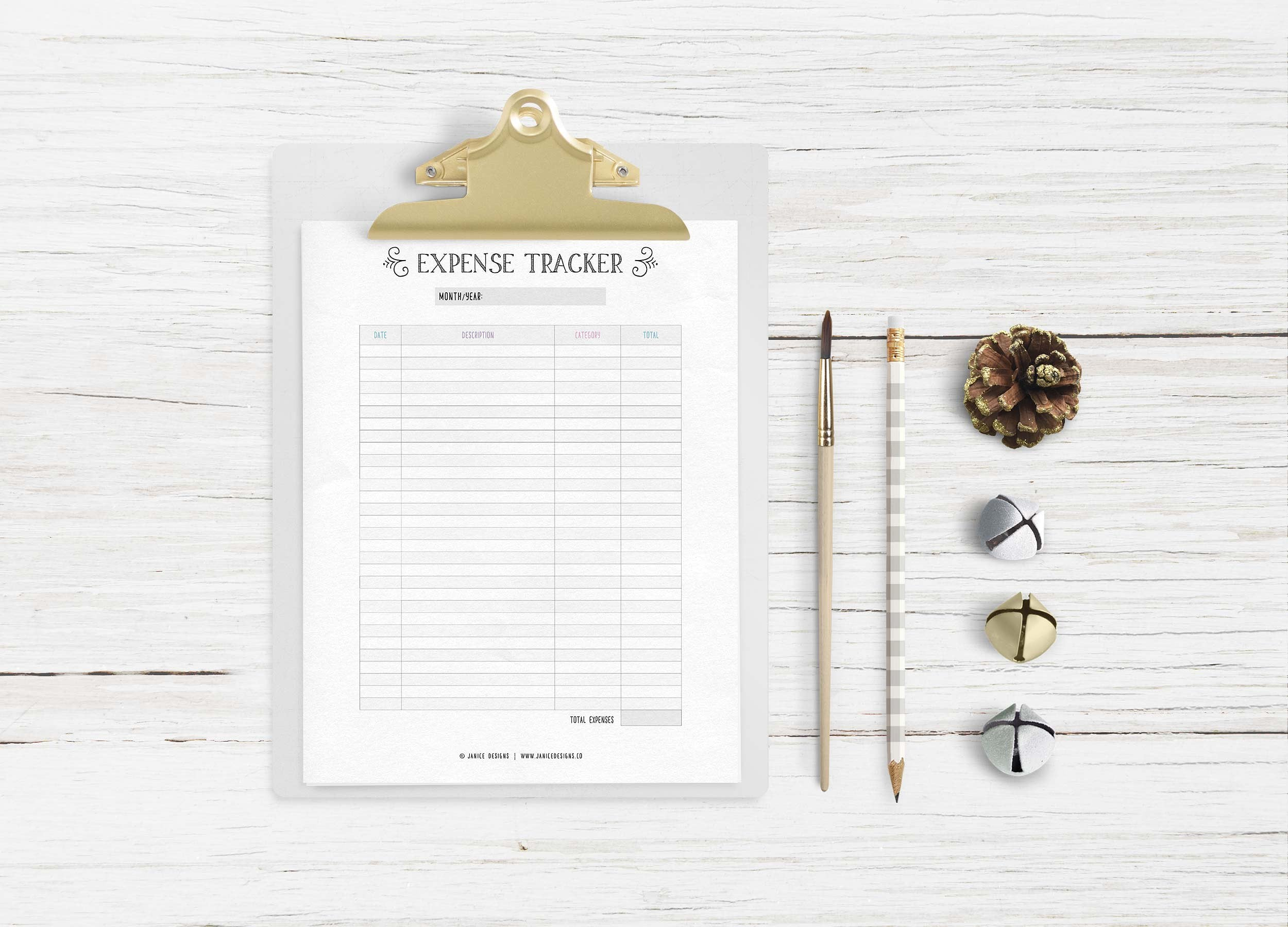 The Ultimate Inspiring Life Planner- 85+ Printable Pages $39 - expense tracker clipboard