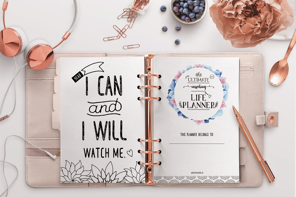 The Ultimate Inspiring Life Planner- 85+ Printable Pages $39 - goal plannng 1