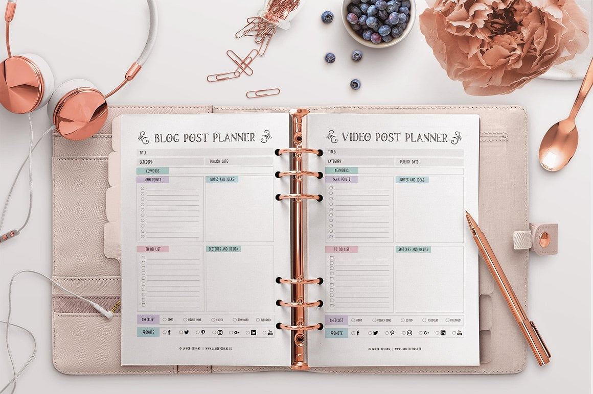 The Ultimate Inspiring Life Planner- 85+ Printable Pages $39 - goal plannng 11