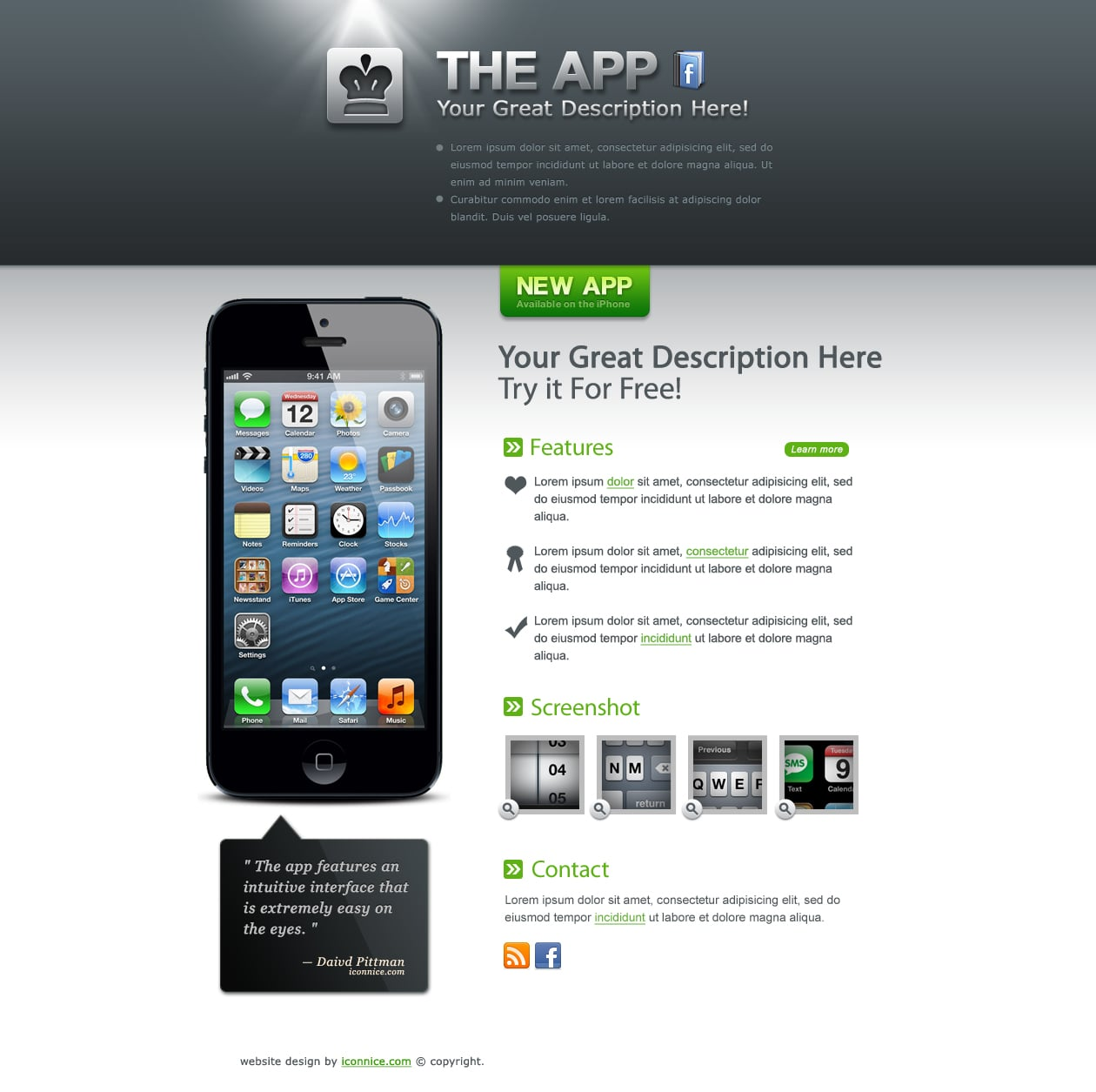 IconNice Big Bundle: 25 iOS app web templates and more! - grey