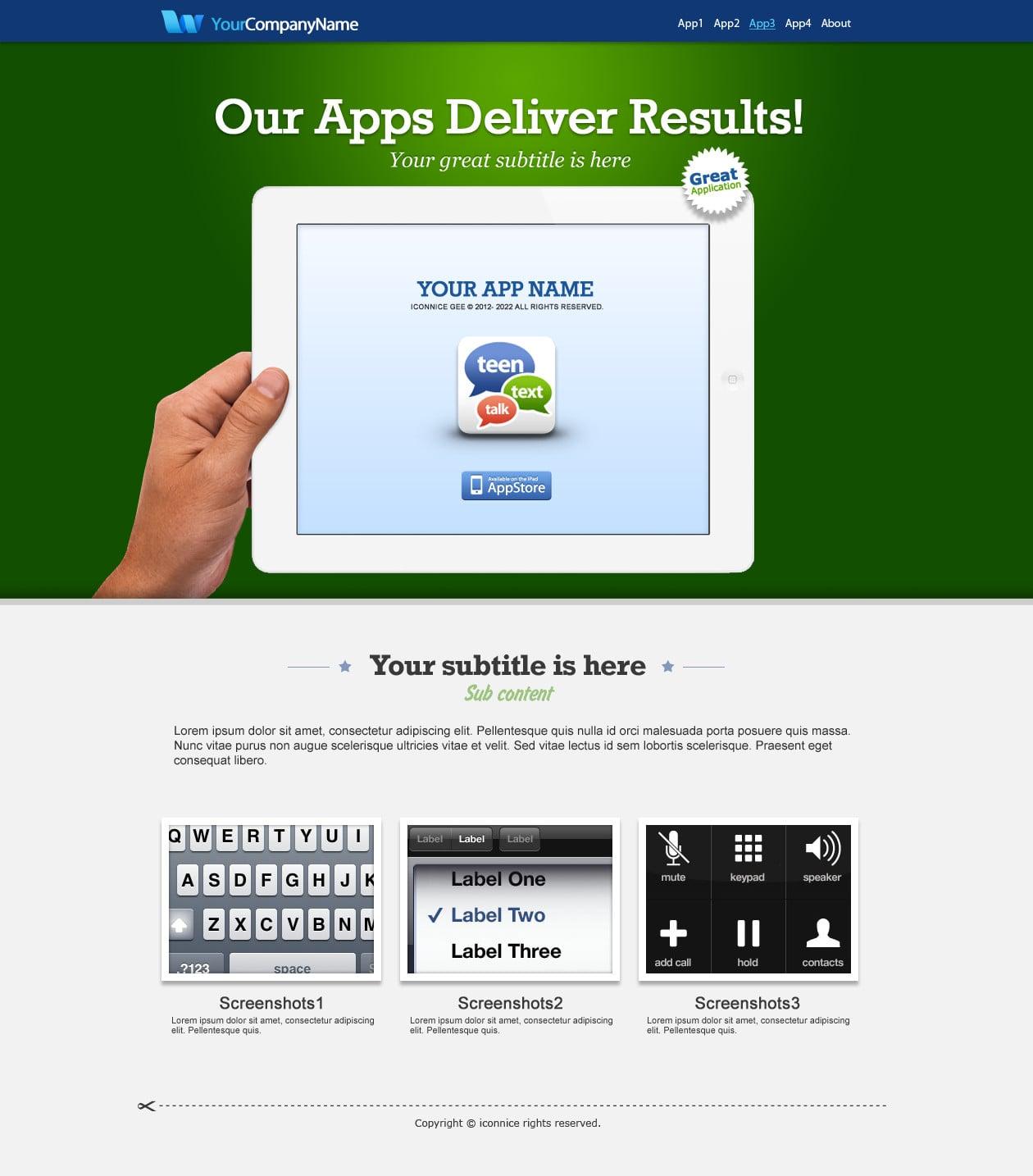 IconNice Big Bundle: 25 iOS app web templates and more! - iPad 1