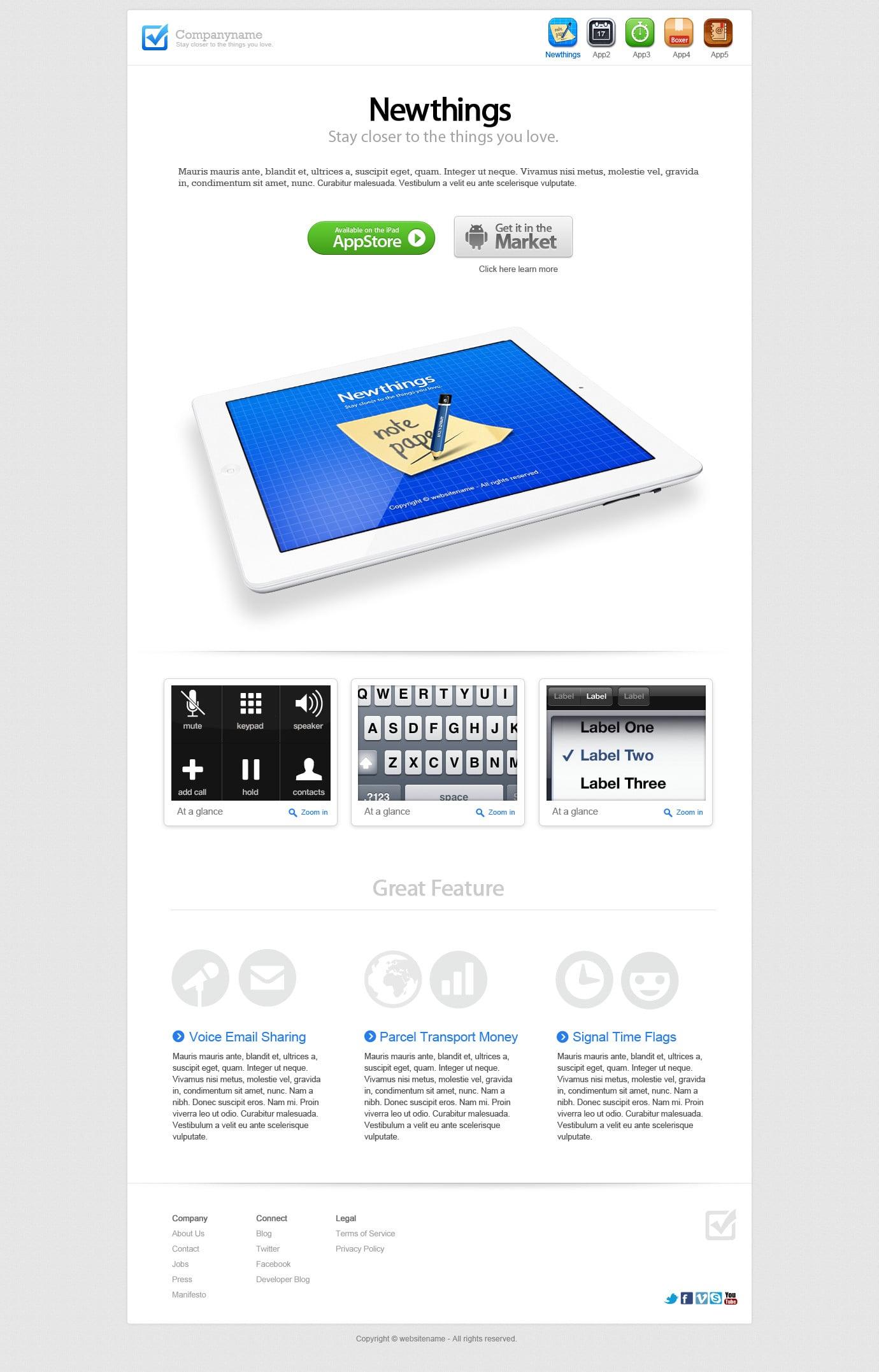 IconNice Big Bundle: 25 iOS app web templates and more! - iPad 2