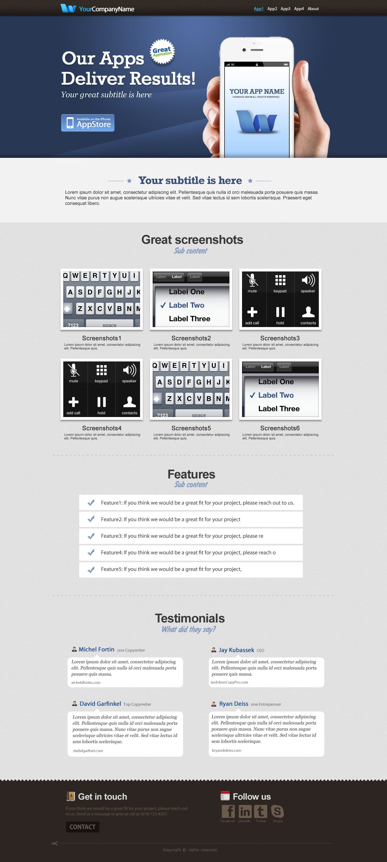 IconNice Big Bundle: 25 iOS app web templates and more! - iPhone1