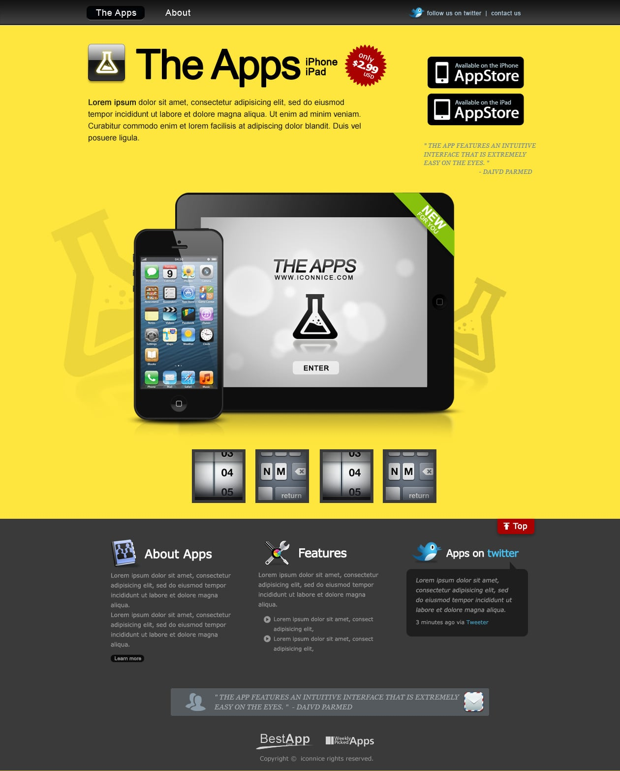 IconNice Big Bundle: 25 iOS app web templates and more! - index 5 1