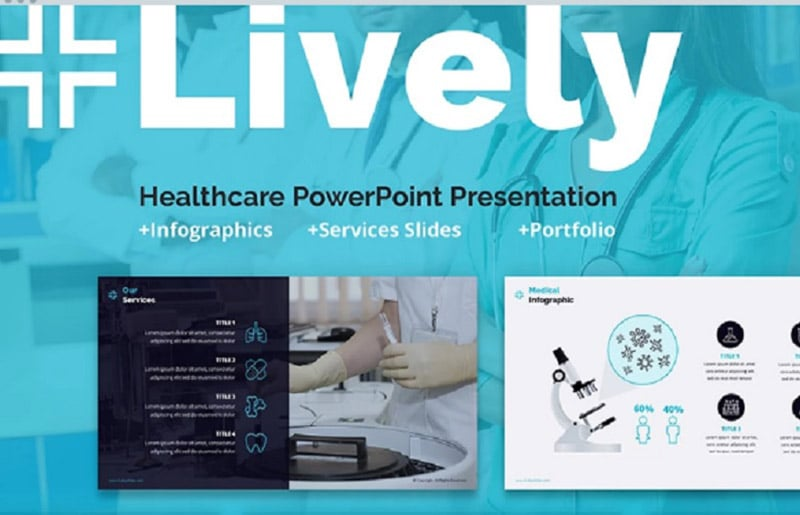 Lively Healthcare PPT Slides PowerPoint Template