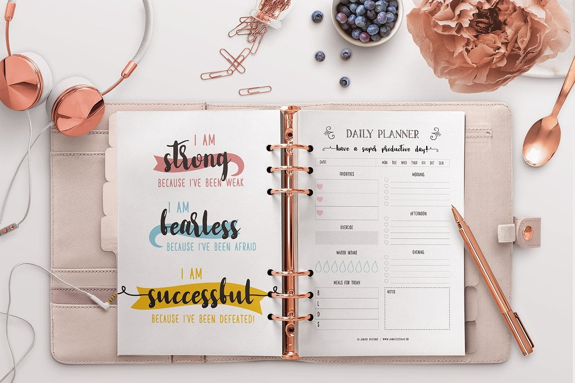 The Ultimate Inspiring Life Planner- 85+ Printable Pages $39 - motivational quotes planning 1