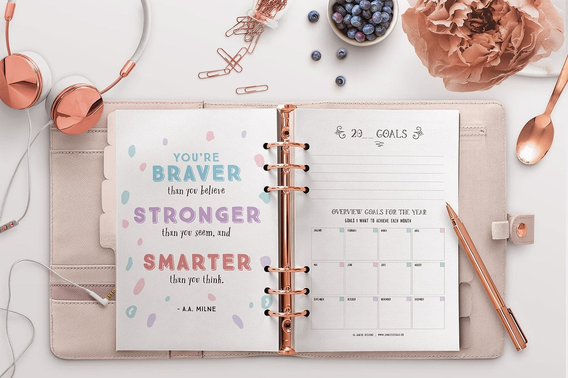 The Ultimate Inspiring Life Planner- 85+ Printable Pages $39 - motivational quotes planning 2