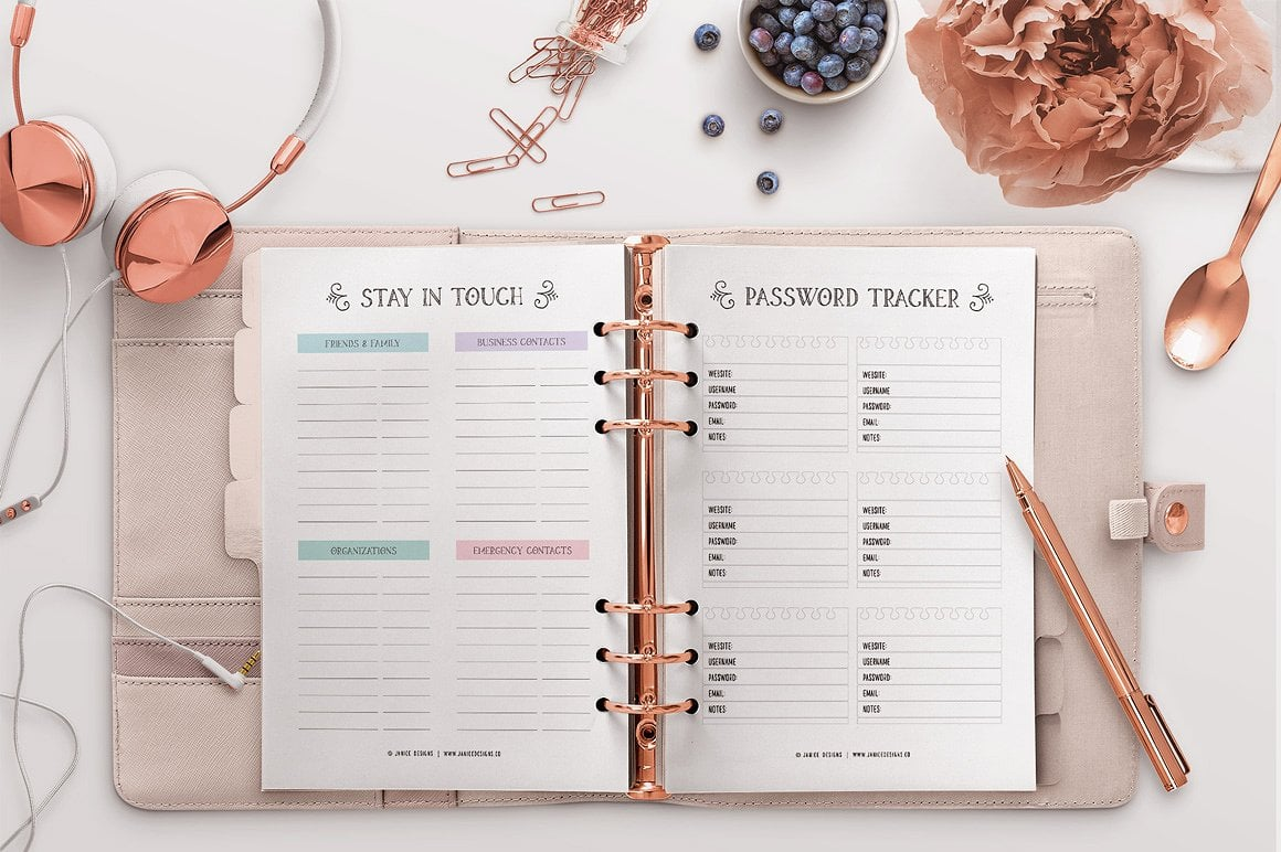 The Ultimate Inspiring Life Planner- 85+ Printable Pages $39 - personal 8