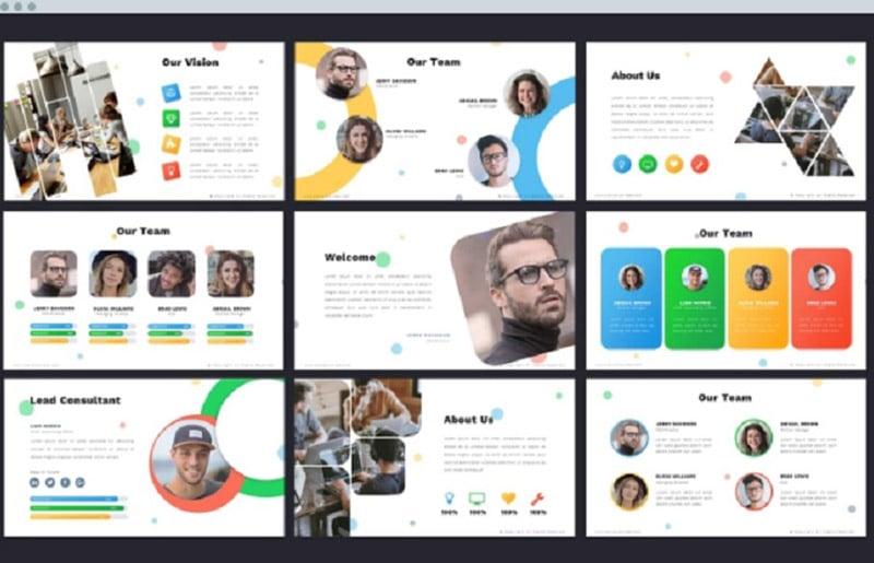 Creative PowerPoint Templates in 2020. Bundle to Design an Effective Presentation - socially2 1