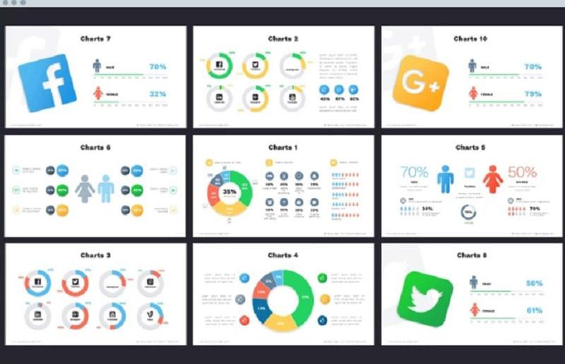 Creative PowerPoint Templates in 2020. Bundle to Design an Effective Presentation - socially3 1