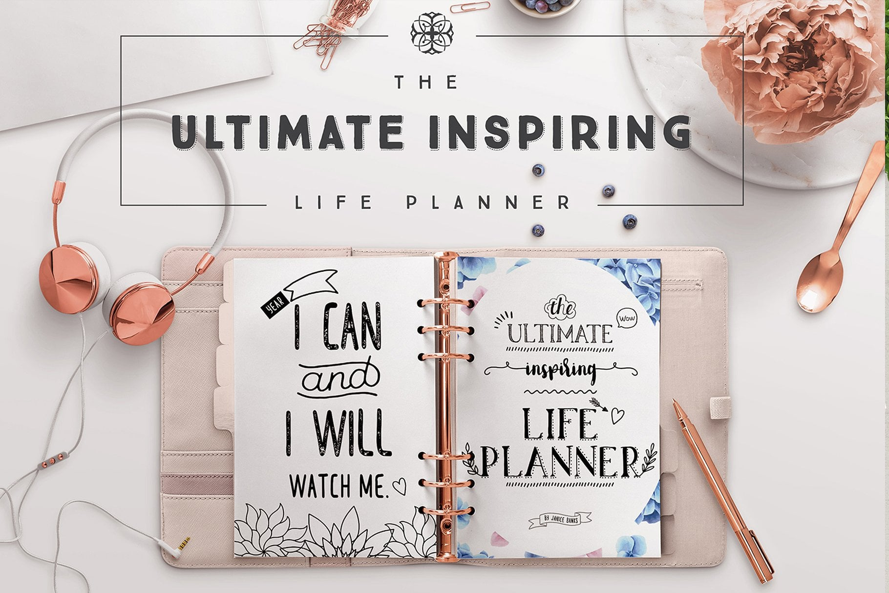 The Ultimate Inspiring Life Planner- 85+ Printable Pages $39 - tuilp cover page 1820x1214px cm