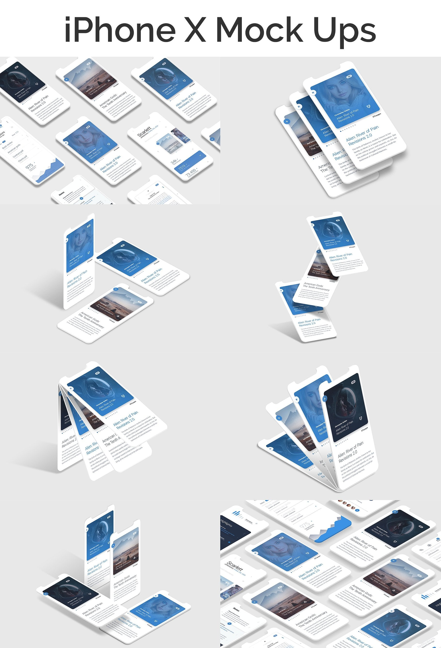 Isometric Mock up for Web, A4, App Bundle
