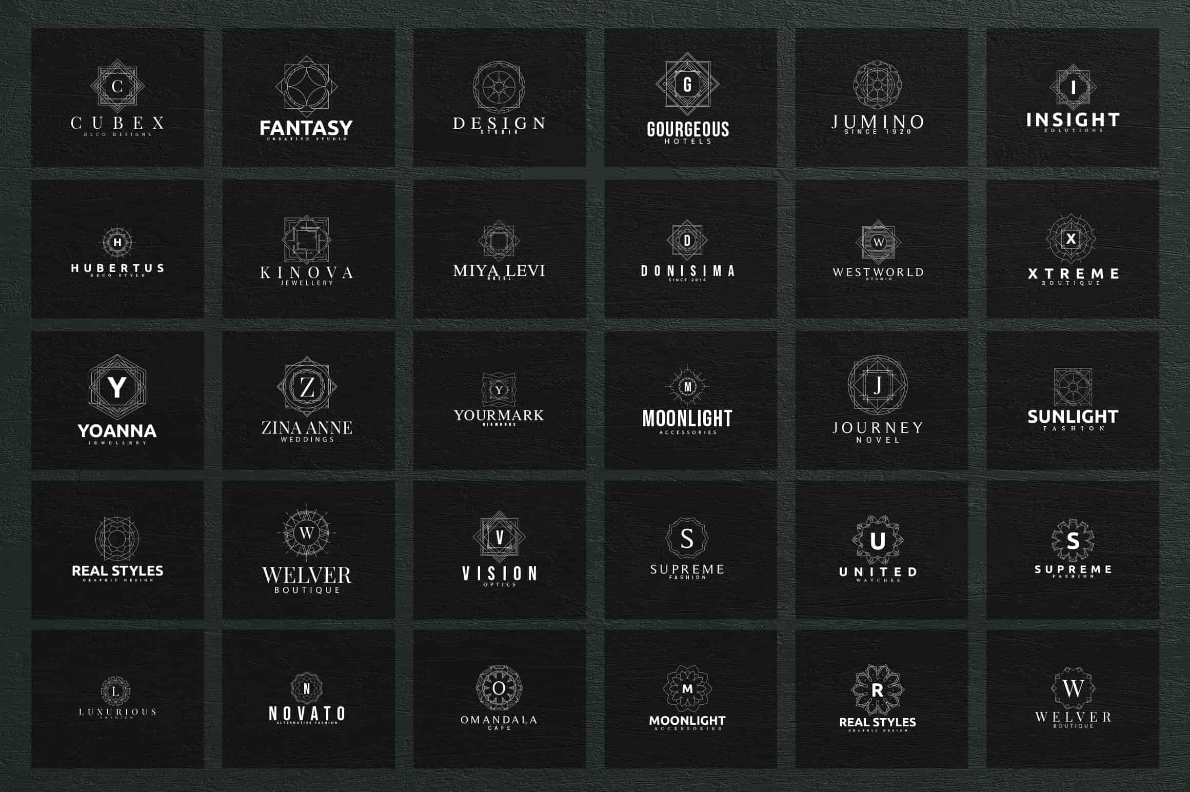 Mega Bundle - 600 Logo Templates - $29 - 10 2 min