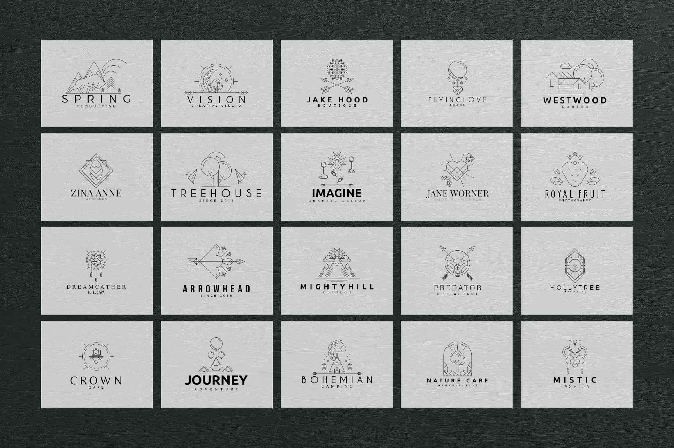 Mega Bundle - 600 Logo Templates - $29 - 13 1 min