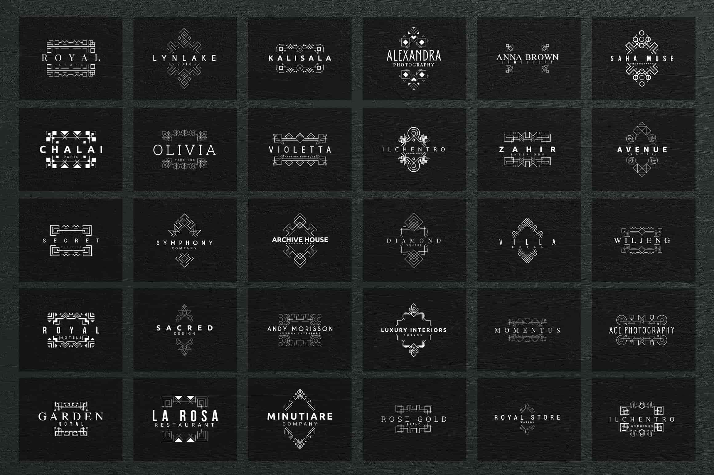 Mega Bundle - 600 Logo Templates - $29 - 15 1 min