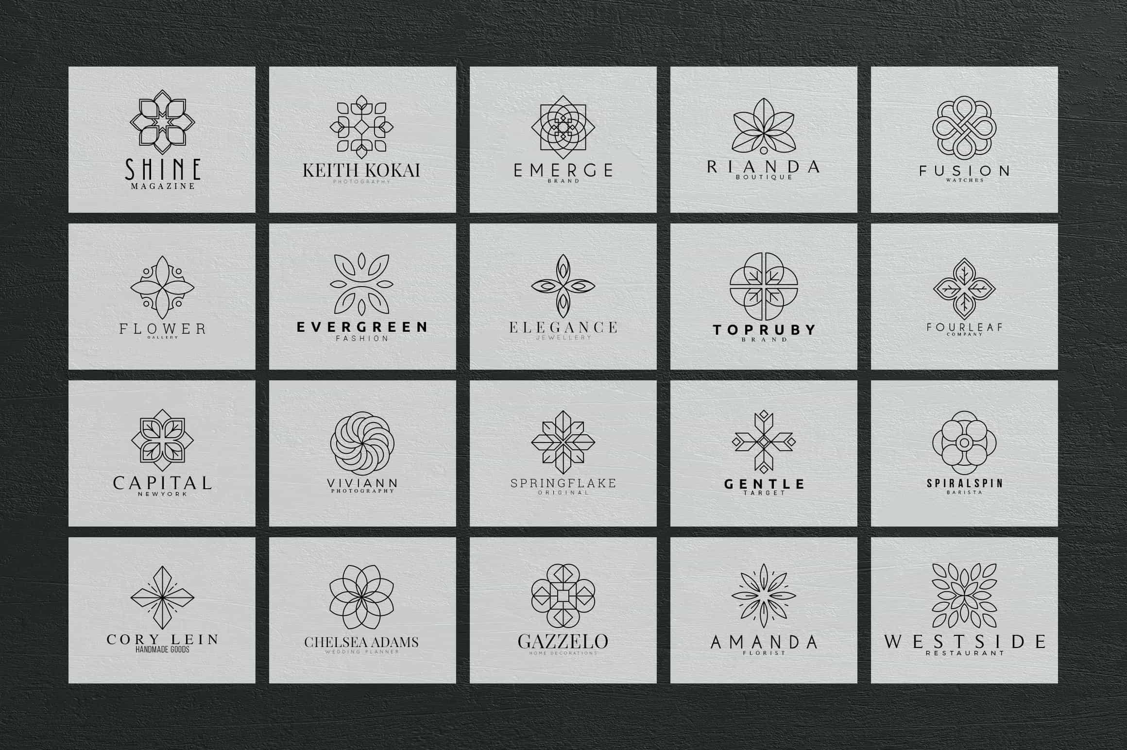 Mega Bundle - 600 Logo Templates - $29 - 19 min