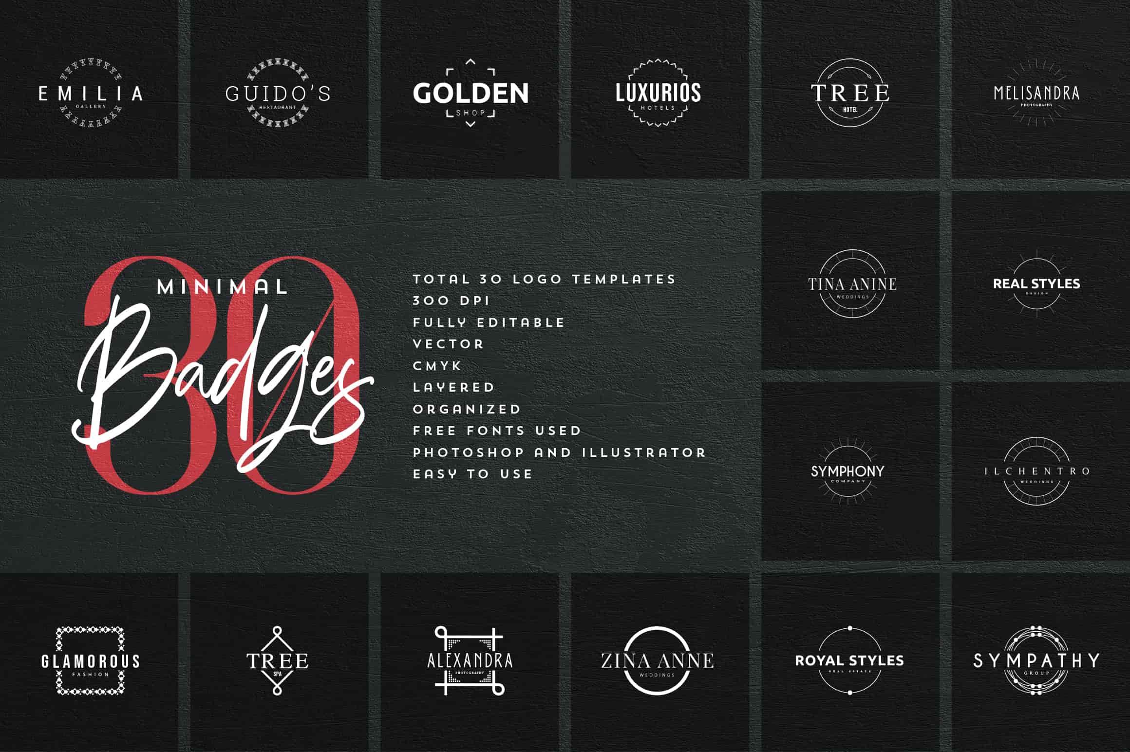 Mega Bundle - 600 Logo Templates - $29 - 33 min