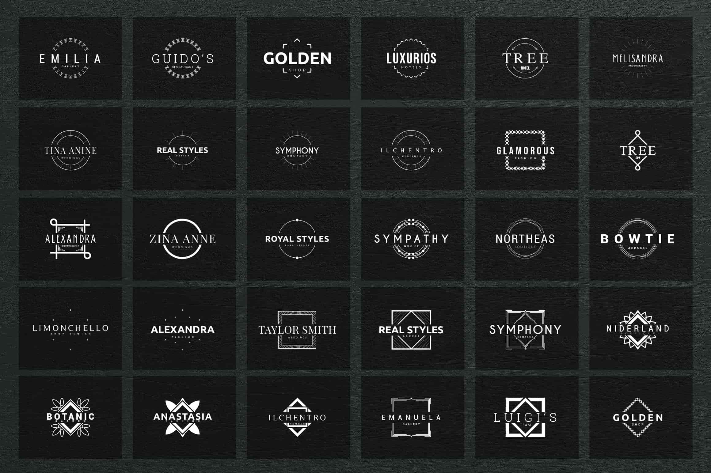 Mega Bundle - 600 Logo Templates - $29 - 34 min