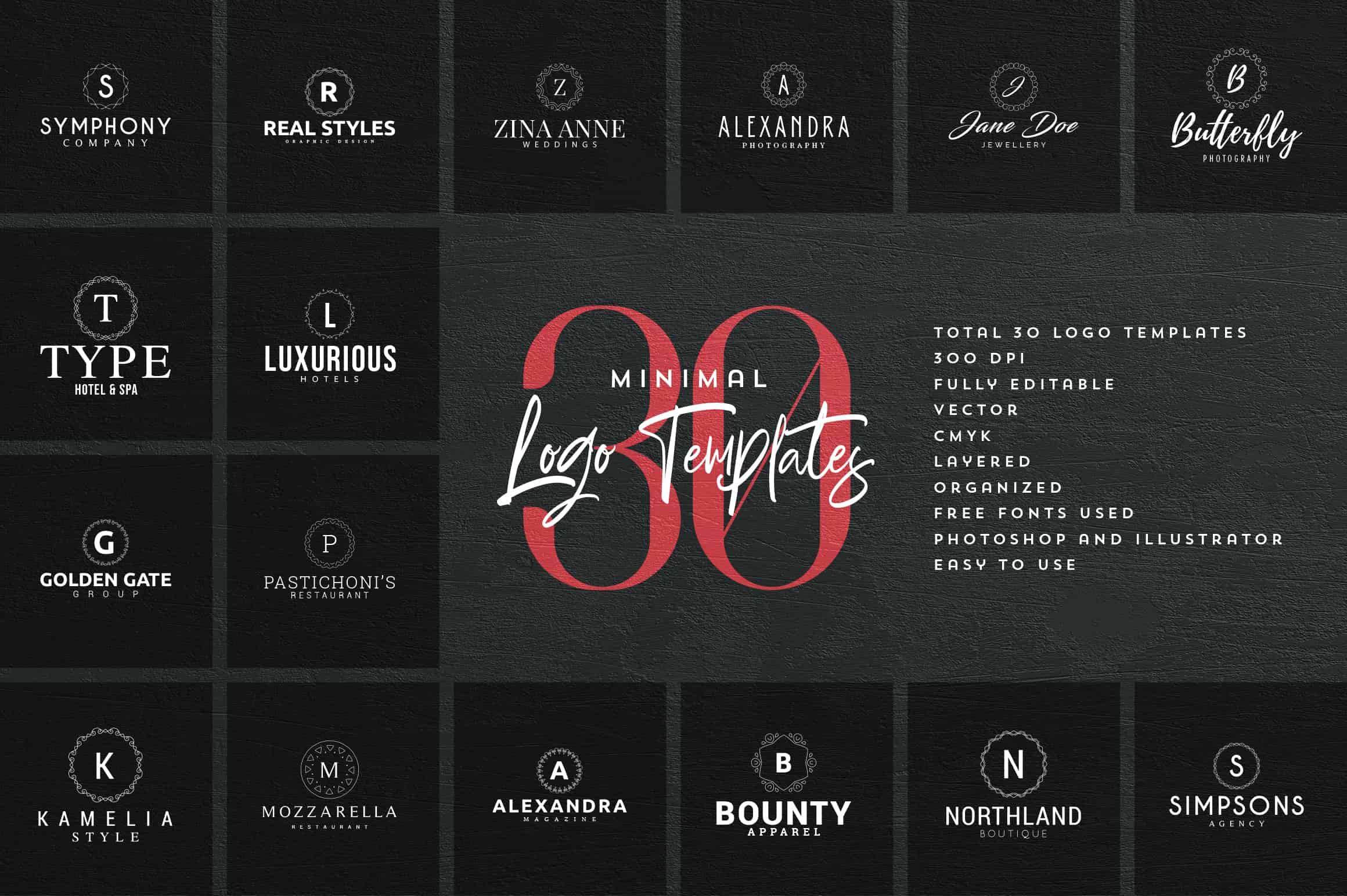 Mega Bundle - 600 Logo Templates - $29 - 35 min
