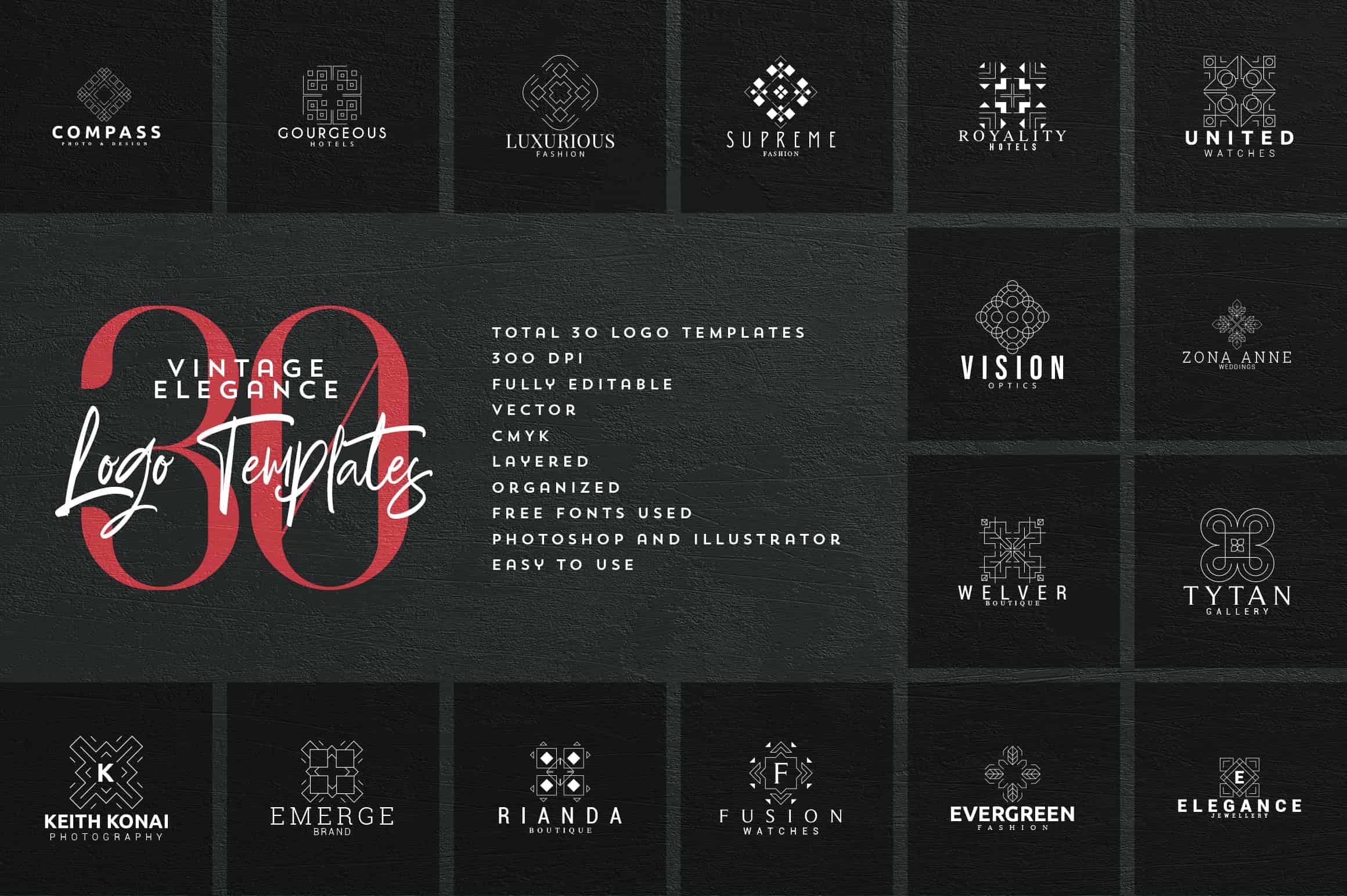 Mega Bundle - 600 Logo Templates - $29 - 37 min