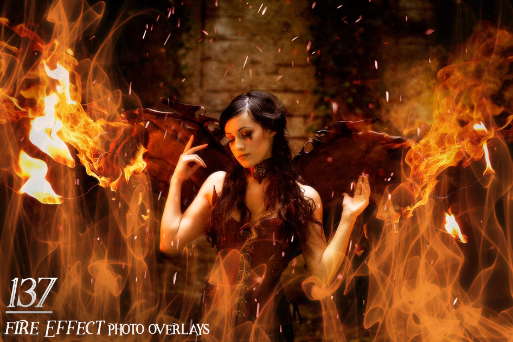 137 Fire Effect Photo Overlays - 5