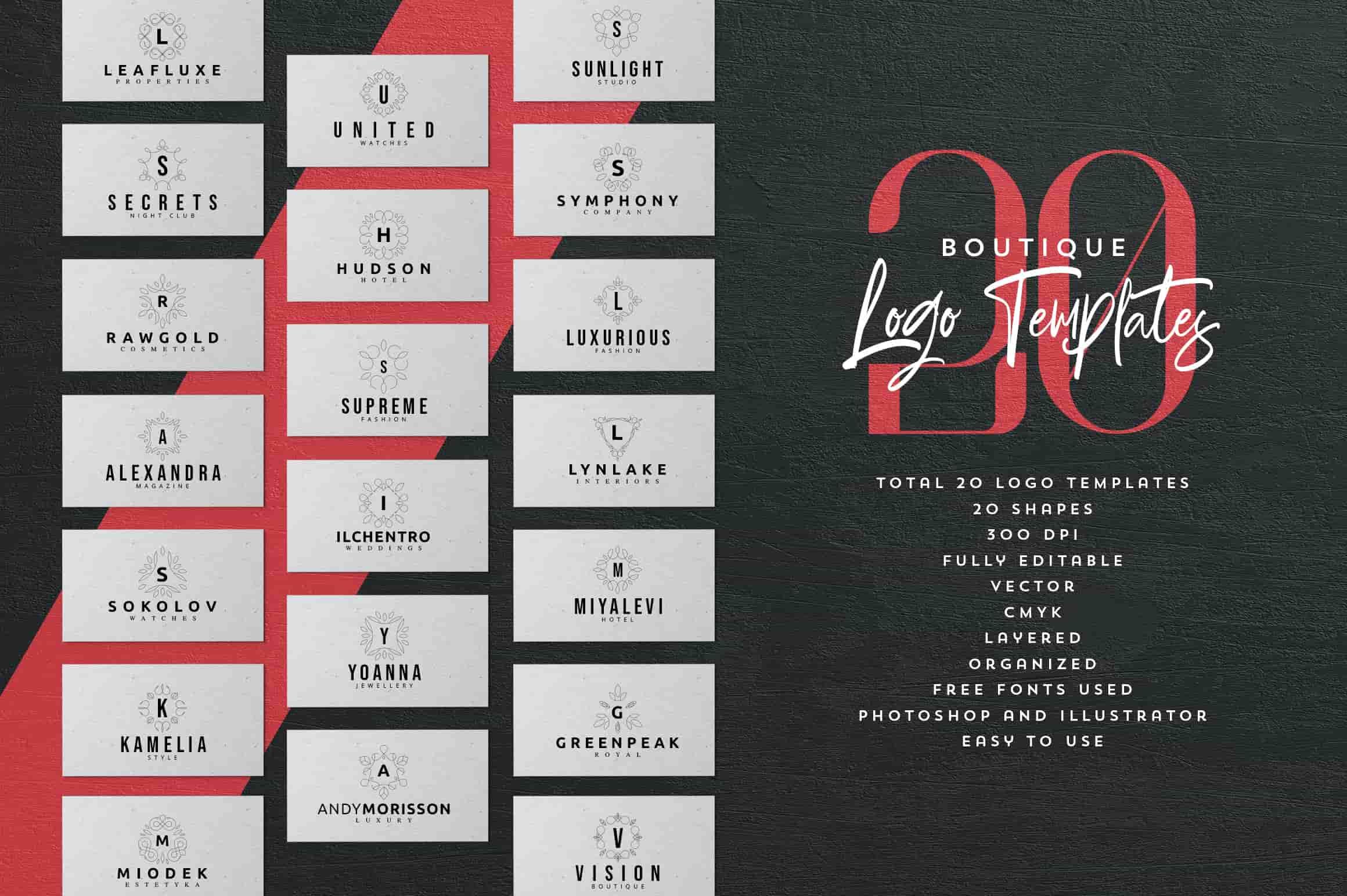 Mega Bundle - 600 Logo Templates - $29 - 5 3 min
