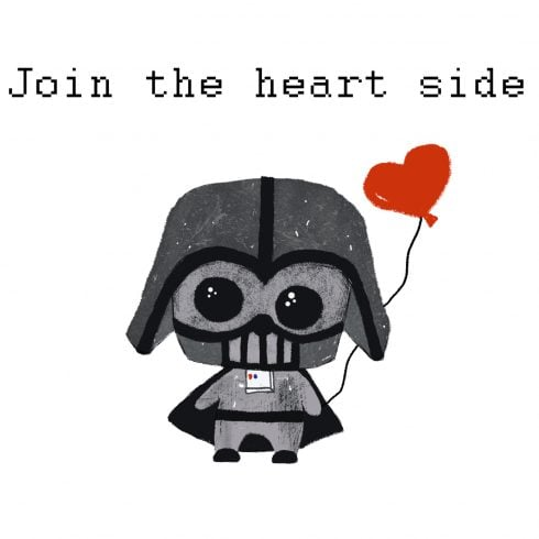 PRINTABLE Darth Vader Valentine card [Star Wars] - 600 11 490x490