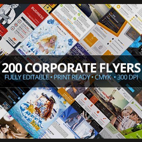 200 Corporate Flyers with Extended License - Only $19 - 600 17 490x490